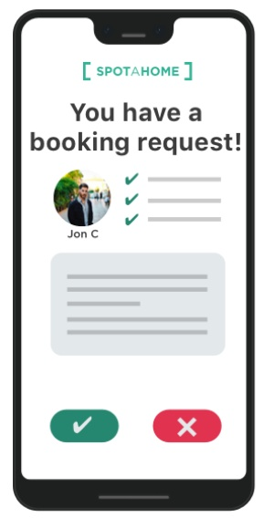 Showcase booking request section